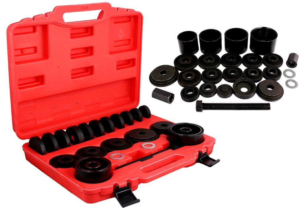 Front Wheel Drive Bearing Removal Adapter Puller Pulley Tool Kit 23PC With Box - Skroutz