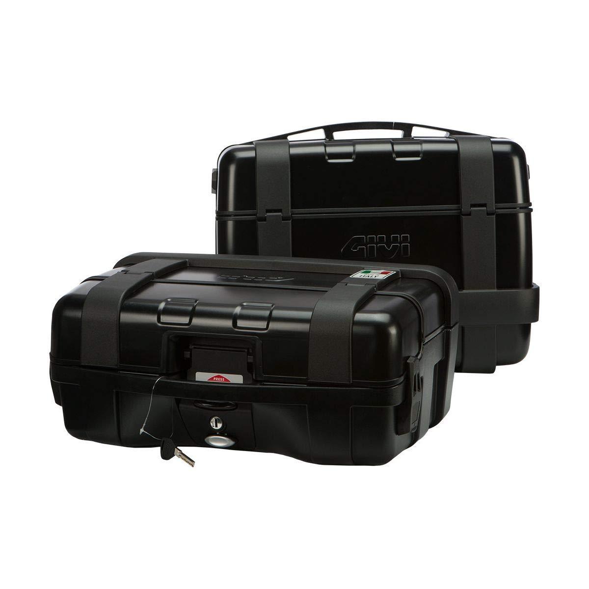 2 Cases Black GIVI Trekker Monokey 46 Liter Aluminum Top//Side Case