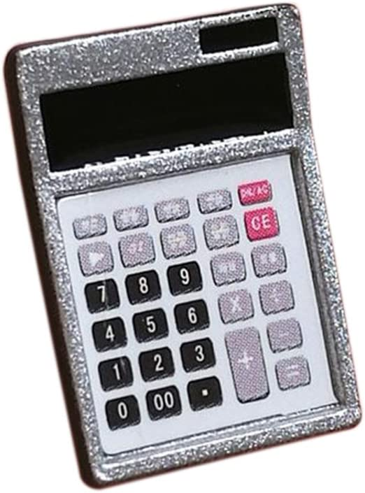 1:12 Dollhouse Metal Calculator Home Office School Miniature Accessoryr