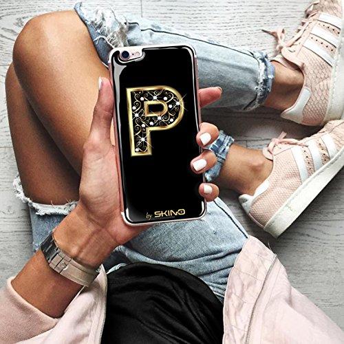 Skino™ Custodia Skin 3D Anti-Gravità Case Cover Resina Gel per iPhone 5 / 5s / 5 SE / 6/6 Plus / 6s / 6s Plus / 7/7 Plus Anti-Scratch Protezione 100% UV Antiscivolo Letter Gold Lettera Doro P (iPhone