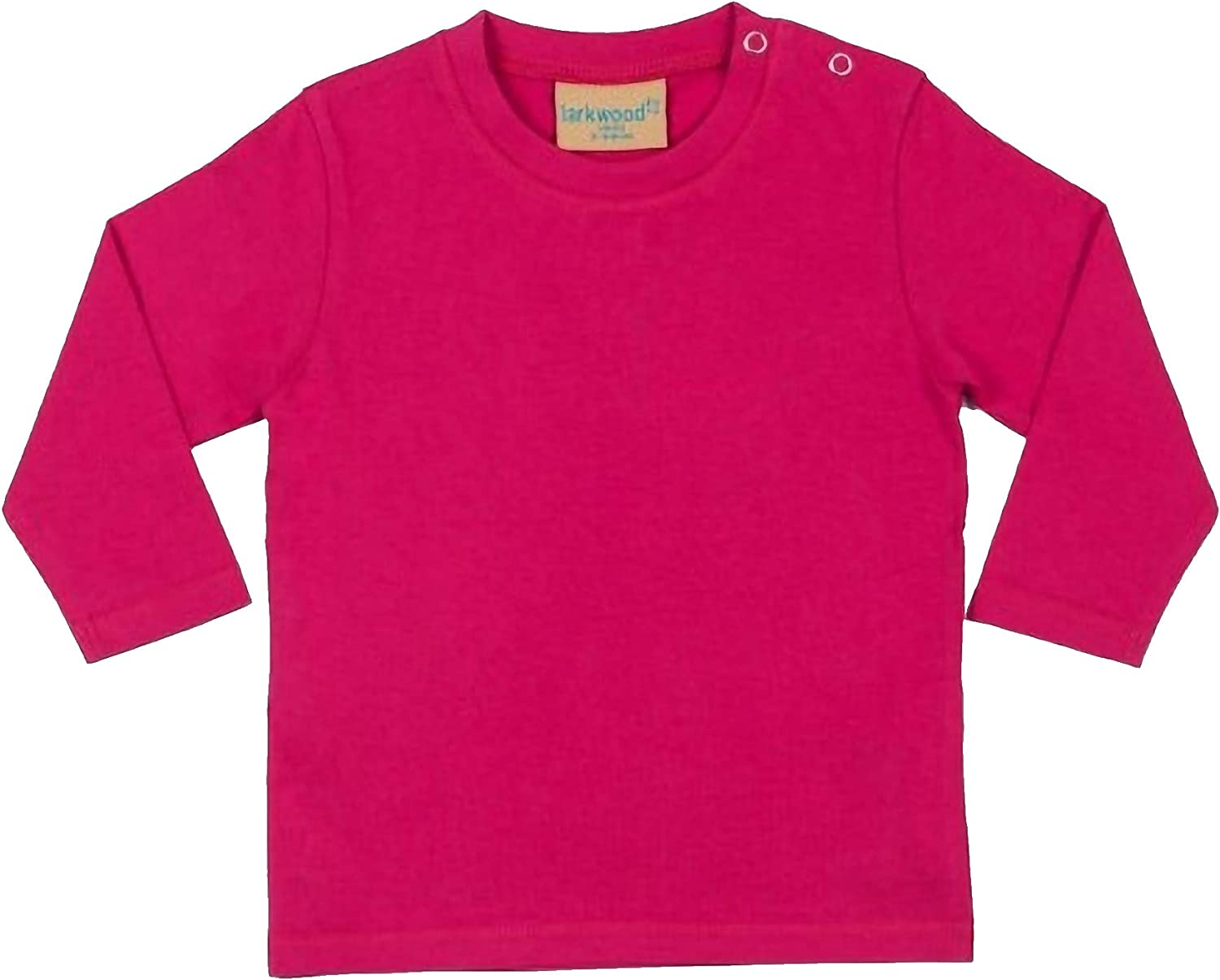 24-36 Pale Blue Larkwood Baby Unisex Plain Long Sleeve T-Shirt