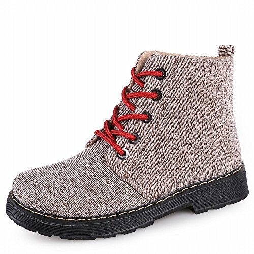 in Shoes Winter DXD Women Canvas Boots Tube and A Flat Autumn the Snow Western in Boots 'S Boots AwwqxCOtY