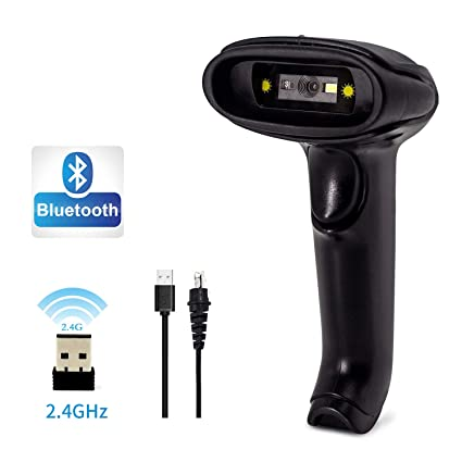 2D Bluetoothe Wireless QR Barcode Scanner, Alacrity 2 4GHz Wireless  Bluetooth 4 0 Handheld Barcode Reader for Screen and Printed Bar Code Scan,  Works