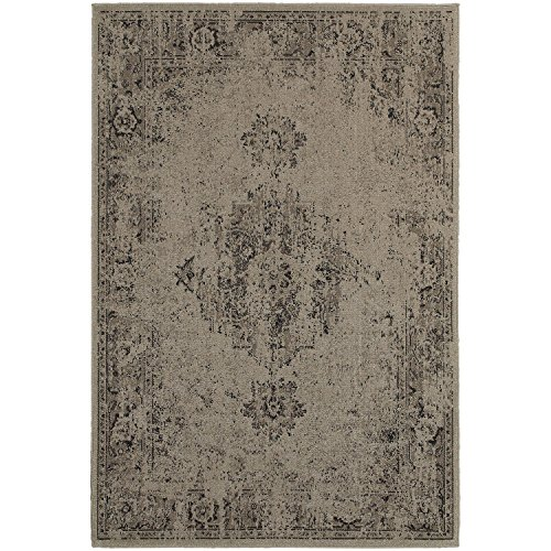 Amazon.com: Super Area Rugs Vintage Inspired Rug, Grey