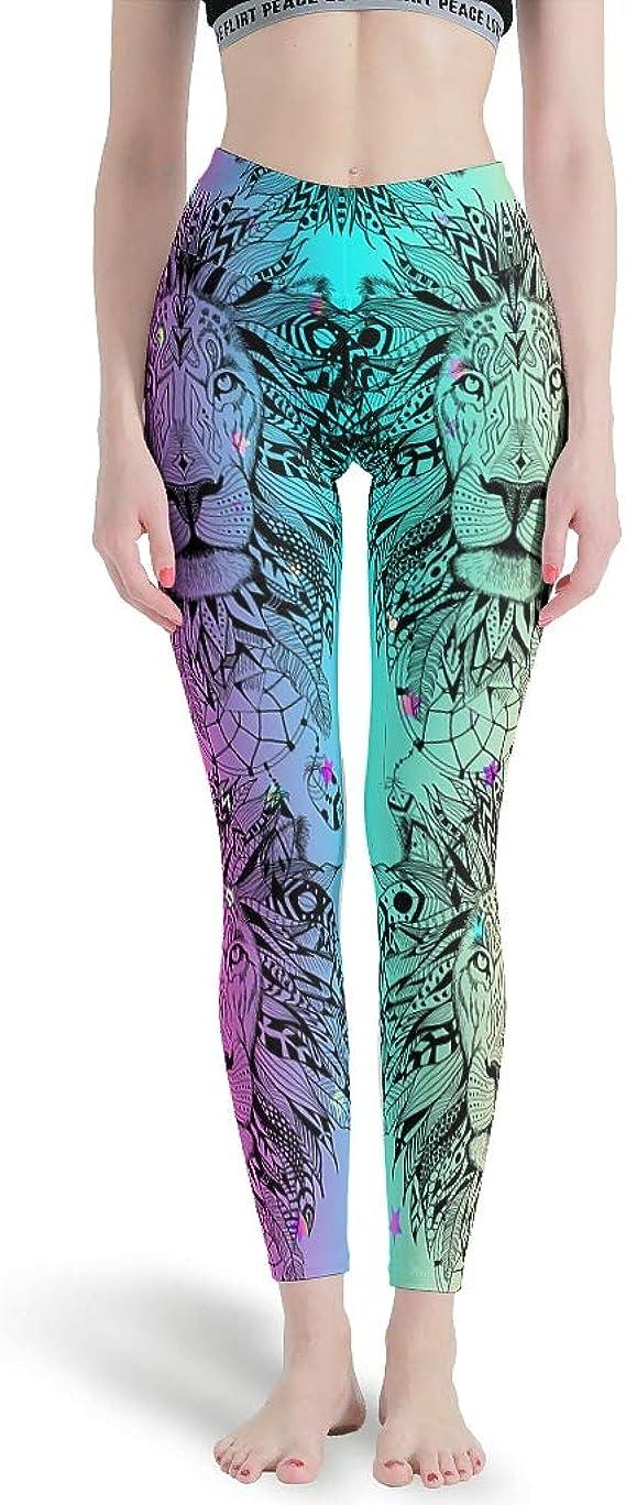 High Waist Yoga Shorts Workout Leggings White Pink Gradient 3D Animals Print Leggings Black 3D Animals Print Pattern Leggings