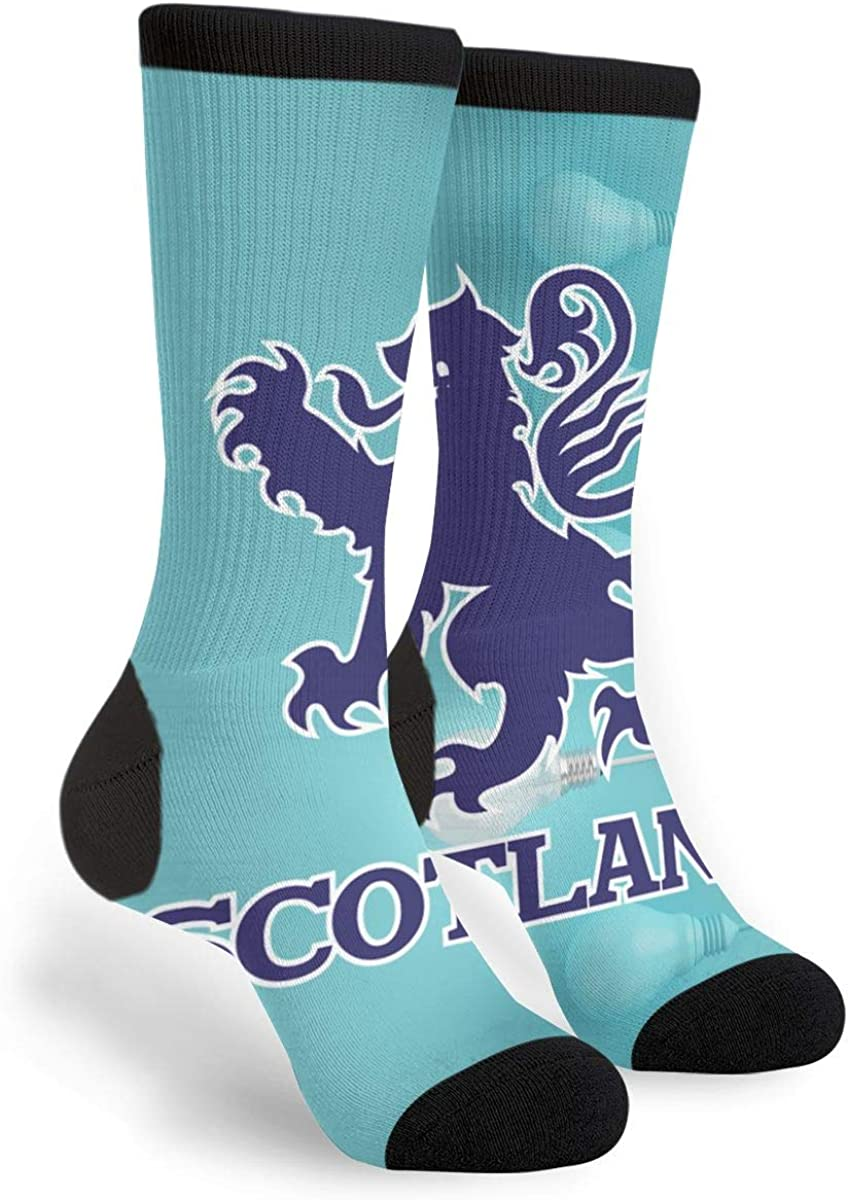 Fashion Travel Breathable Socks Lion Rampant Scotland Scottish Men /& Women Running Casual Socks