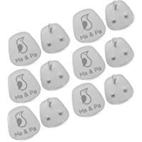 Ma & Pa 12 Pieces Baby Safety Covers, Baby Proof Outlet Covers, Socket Covers, Child Proofing Plug Covers Protects…