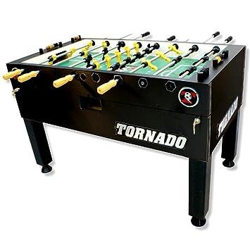 Tornado Tournament 3000 Foosball Table   Black 3 Man Goalie