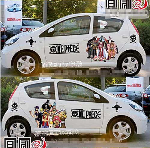 itasha 2 pieces anime one piece car stickers monkey d luffy import