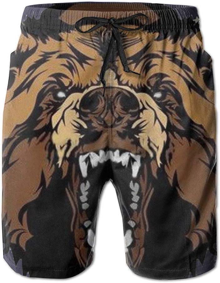Mens Grizzly Roaring Bears Board Shorts Swim Trunks