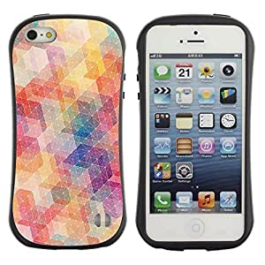 Suave TPU GEL Carcasa Funda Silicona Blando Estuche Caso de protección (para) Apple Iphone 5 / 5S / CECELL Phone case / / Polygon Pattern Abstract Pastel Colors /