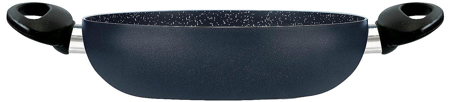HAKKU Hair Iron Silex Company Eco Stone Both Hand-Held Thick Bottom Pot 24 cm, Medium, Clear