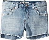 Levi's Kids Girl's Altered Denim Shorty Shorts (Little Kids) Bleach Out 6X