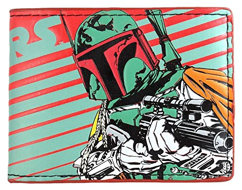Star Wars Boba Fett Striped Bi Fold Wallet by Bioworld