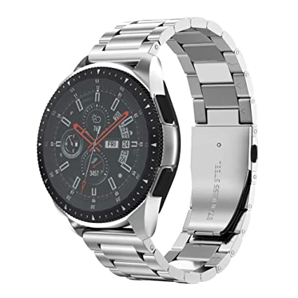Amazon.com: Anmu banda de metal reloj de acero inoxidable 16 ...