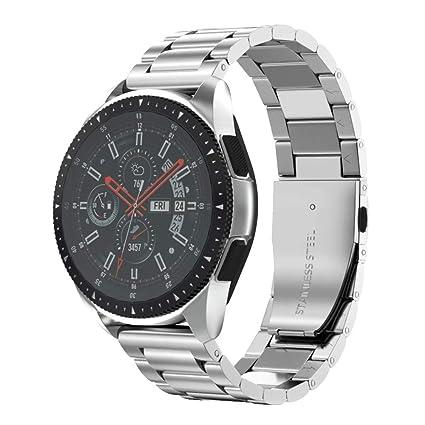 Amazon.com: Anmu banda de metal reloj de acero inoxidable 16 ...