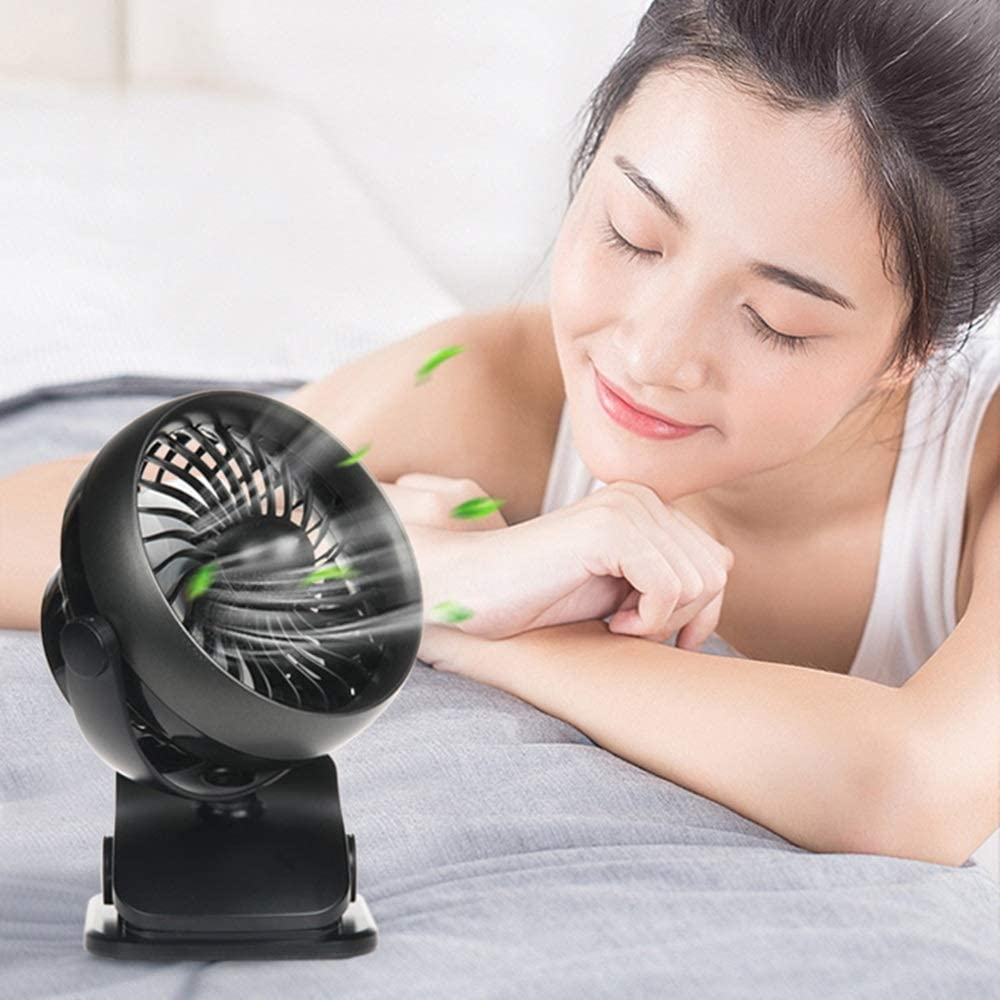 Zxcvlina Portable Personal USB Fan 4 Speeds Portable USB Powered Desk Mini Fan Cooler Fan Cooling Mute Quiet Great for Desktop Tabletop Office Home and Travel Color : Black, Size : Free Size