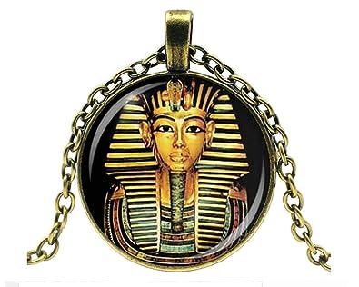 meilleur prix regarder nouvelles photos Joli Collier Pendentif Médaillon Egyptien, Pharaon, pour ...
