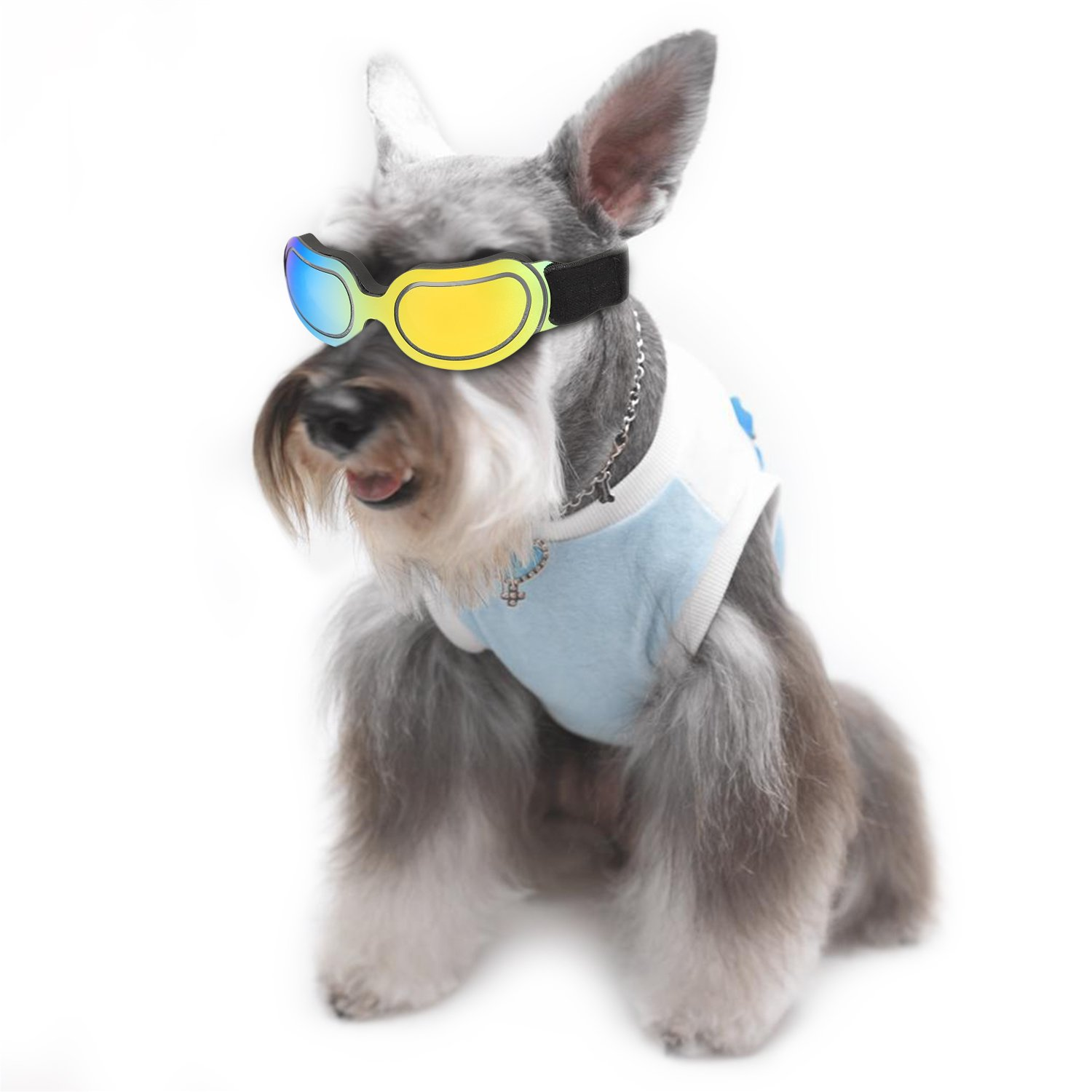 ABZON Cool Pet Sunglasses Dog Puppy Goggles Windproof UV Protection for Doggy/Cat, for Dogs and Pet Lover.(Multi-Colored)