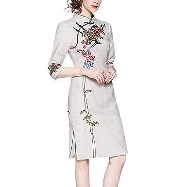 6e61ff32a8e Interact China Qipao Prêt à Porter Chic Robe de Soirée Courte de Cocktail  Femme Orientale