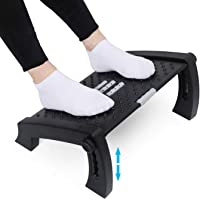 APVTI Foot Rest for Under Desk, Foot Stool -6 Height Adjustable with Massage Surface and Roller for Home Office, All…