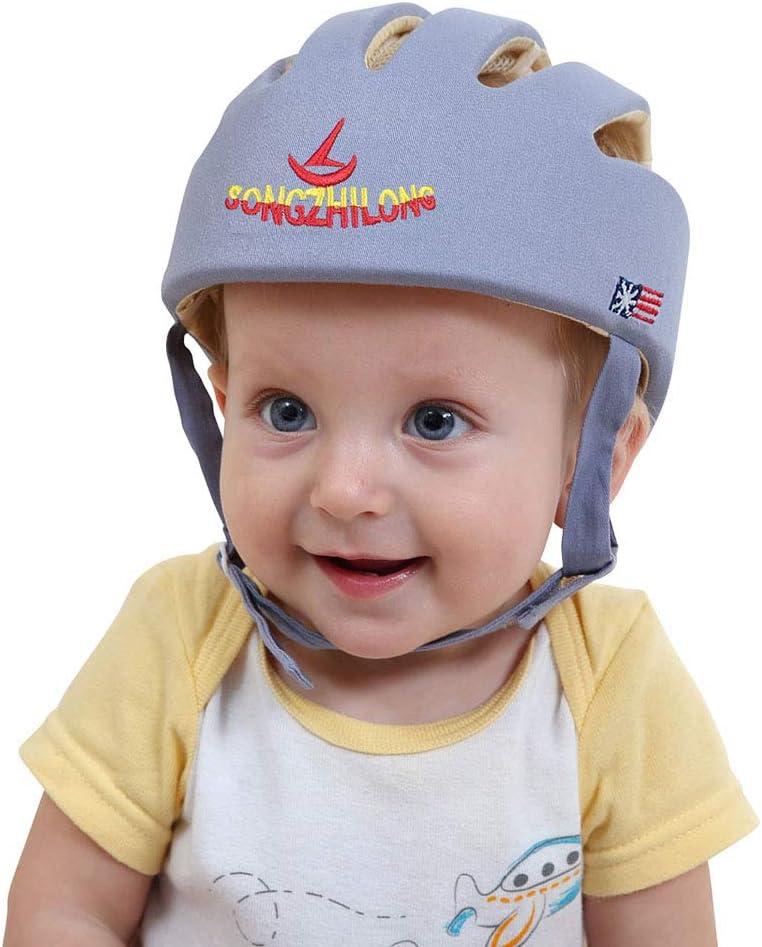 Casco de seguridad ajustable para bebé con arnés protector para la ...