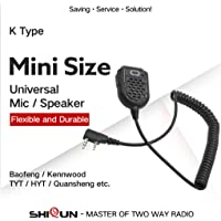 Ben-gi Mic del Altavoz del micrófono para BaoFeng Radio 5R UV GT-3-UV 5RE Plus UV-B5 B6 UV-BF-F8 Eléctrica industrial transmisor-Receptor walkie Talkie