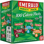 Emerald Nuts Variety Pack, 100 Calorie Almonds, Walnuts, Cashews, 18 Count