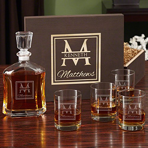 Oakhill Decanter Set with Wooden Gift Box (Customizable Product)