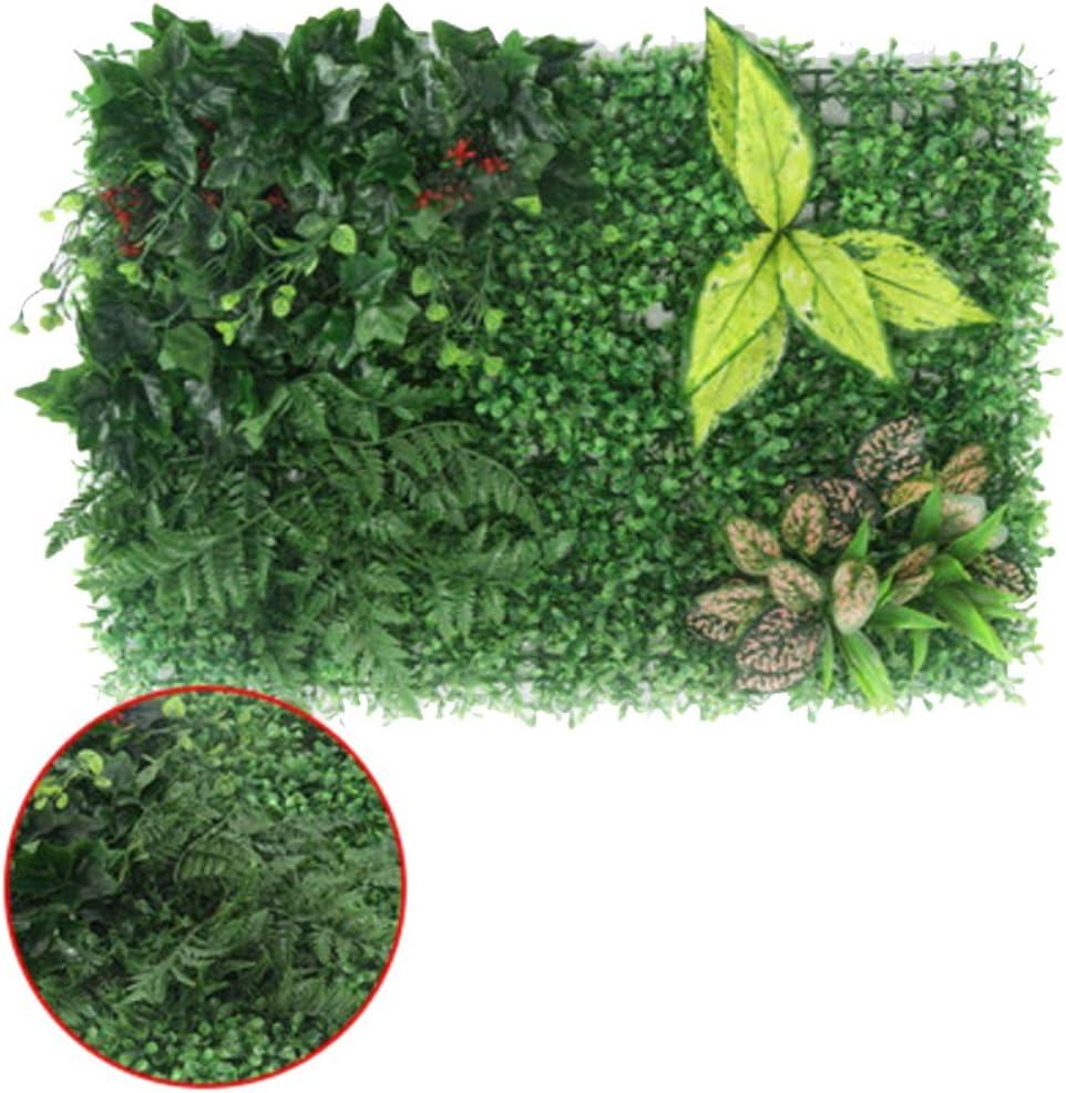YNFNGXU Artificial Hedge Imitation Green Leaf Pantalla De Privacidad Panel De Fondo Plaid Jardín Fake Fence Mat Decoración De La Pared 40x60cm (Color : 04, Tamaño : 40x60cm): Amazon.es: Hogar
