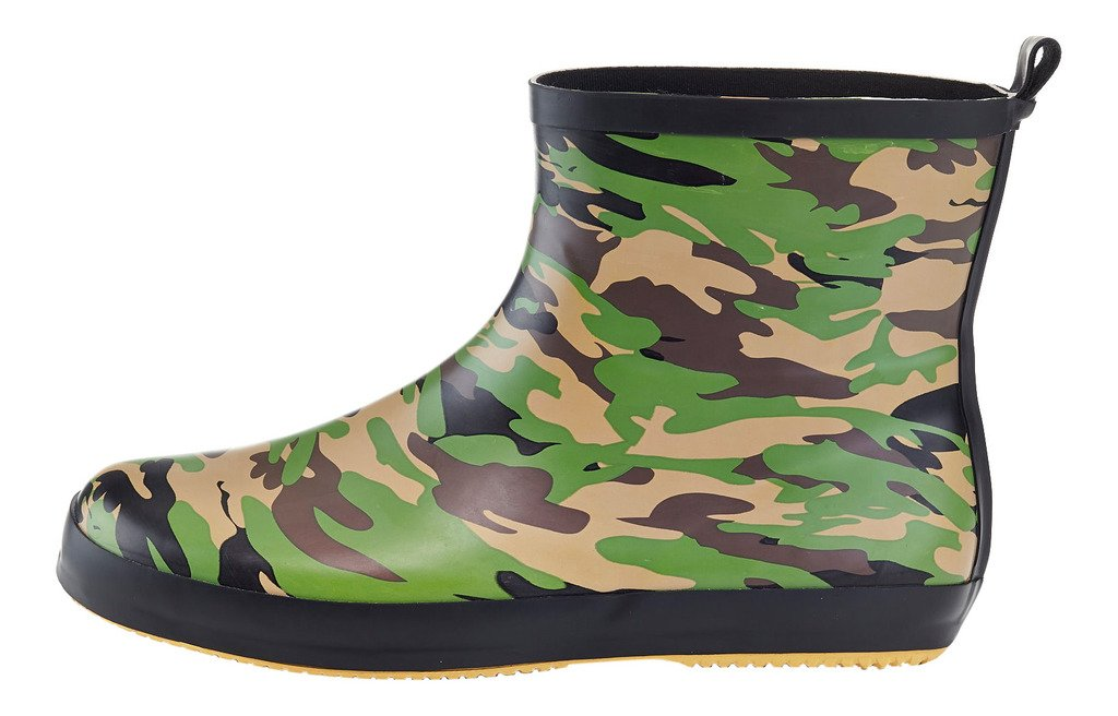 Solo Mens Ever Dry Low Cut Rubber Water Resistant Rain Boot Camo 12