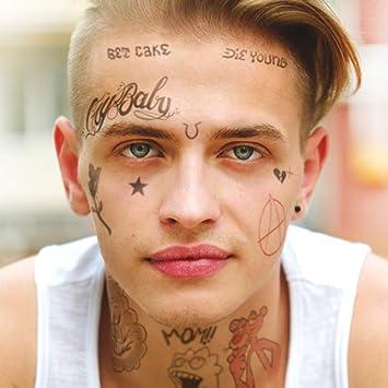 ed02c74a8 Amazon.com : Ink Daze Lil Peep Tattoo Set | Real to Life Temporary Tattoos  | Halloween Costume | Skin Safe : Beauty