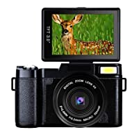 Digital Camera Full HD Video Camera 1080p 24.0MP Vlogging Camera Flip Screen 180 Degree Rotation
