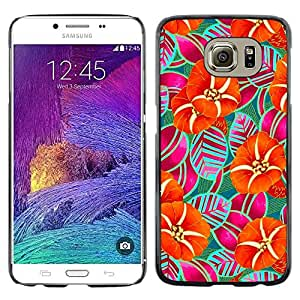 LECELL--Funda protectora / Cubierta / Piel For Samsung Galaxy S6 SM-G920 -- Nature Iridescent Wallpaper Art --