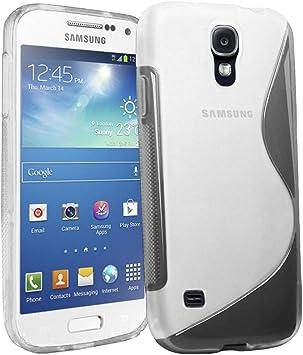ebestStar - Funda Compatible con Samsung S4 Mini Galaxy GT-i9190, i9192, i9195 Carcasa Gel Silicona Gel TPU Motivo S-línea, S-Line Case Cover, Transparente [Aparato: 124.6 x 61.3 x 8.9mm, 4.3]: Amazon.es: Electrónica