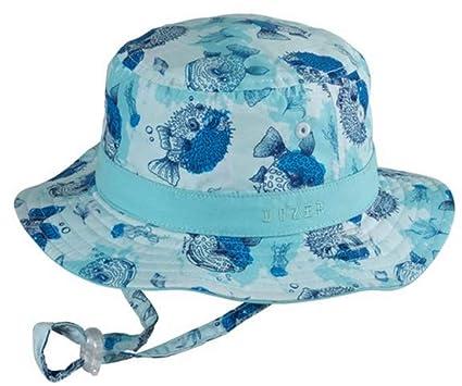 3b5946b7c Amazon.com: MILLYMOOK AND DOZER Baby Boys Blue Reversible Bucket HAT ...