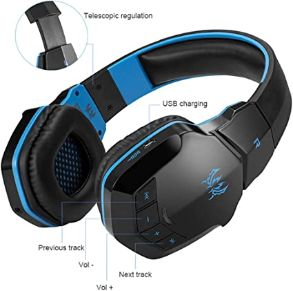 Amazon Com B3505 Wireless Bluetooth Headset Desktop Notebook Headset Headset Music Game Sports Applicable To Computer Mobile Phone Game Console Black Sports Outdoors
