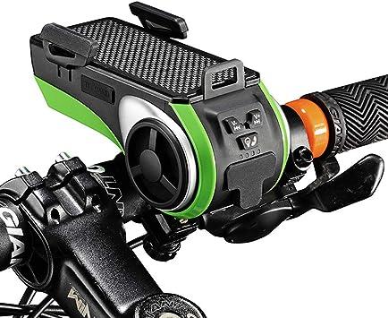 Altavoz de audio Bluetooth 6 en 1 para bicicleta + soporte de luz + ...