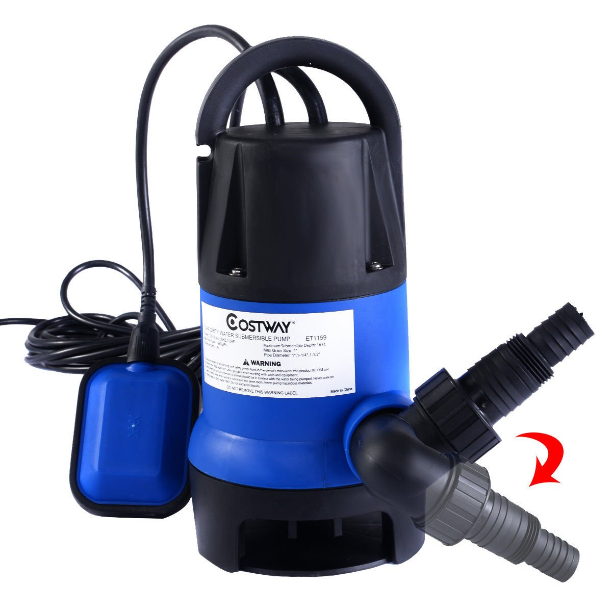 Goplus 1/2HP Submersible Dirty Clean Water Pump Flooding Pool Garden Tool Swimming Pool