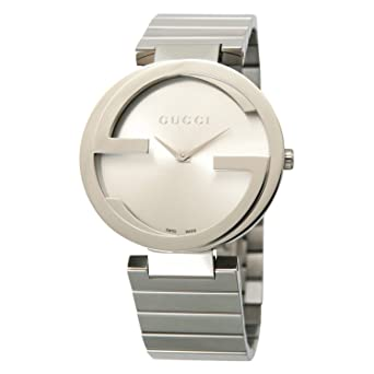 fd4f2a2a543 Gucci Interlocking Steel Ladies Watch YA133308  Amazon.co.uk  Watches