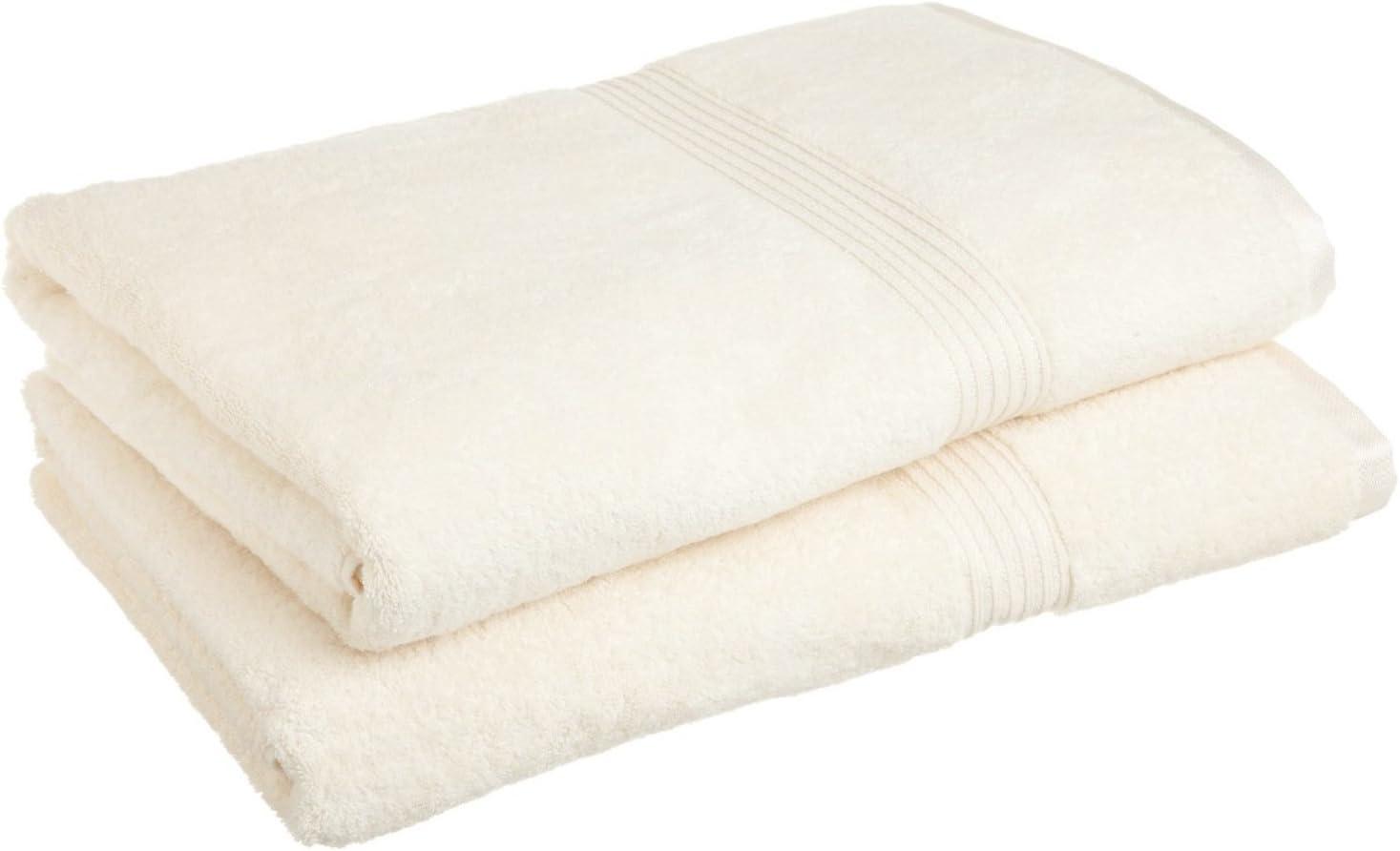 Marrikas Egyptian Cotton Bath Sheet Ivory 2 Pack