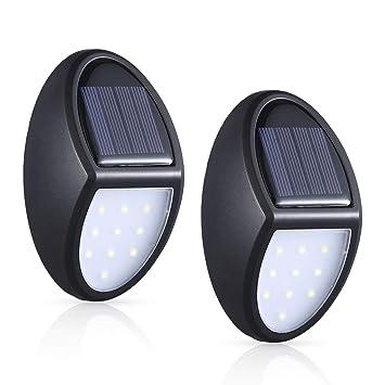 Capteur Pour Ip65 Solaire Pack Crépusculaire LedEclairage Avec 2 Lampe Étanche ExterieurMosuo Applique 10 Led Exterieur qSUVGzMp