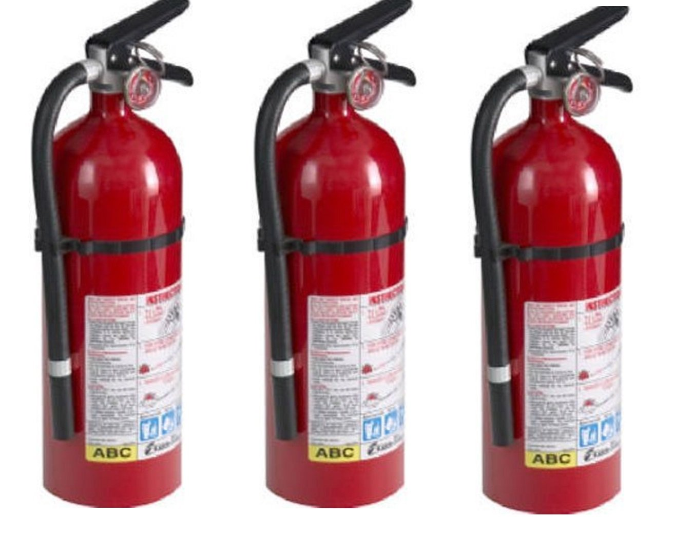 Kidde 21005779 Fire Extinguisher, ABC, 160CI, 4 lbs uRjKWY, 3Pack (Pro 210)