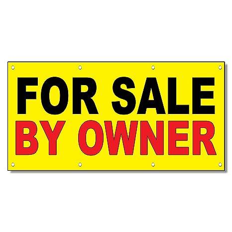 Amazon.com: Cartel para la venta por el propietario Amarillo ...