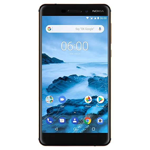 2cba41ba2 Amazon.com  Nokia 6.1 (2018) - Android 9.0 Pie - 32 GB - Dual SIM ...