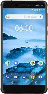 "Nokia 6.1 (2018) - Android 9.0 Pie - 32 GB - Dual SIM Unlocked Smartphone (AT&T/T-Mobile/MetroPCS/Cricket/H2O) - 5.5"" Screen - Black - U.S. Warranty"