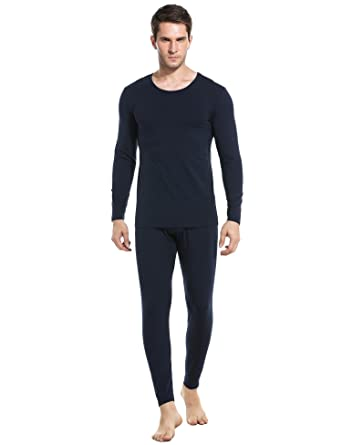 dc0a149ac Langle Mens Thermal Set 2 Piece Long Johns Cotton Blend Shirts and Leggings  S-XXL
