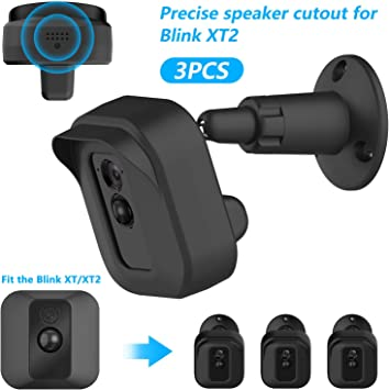 Wall Mount Bracket Weather Proof Protective Cover Case for Blink XT Cam 3 Packs