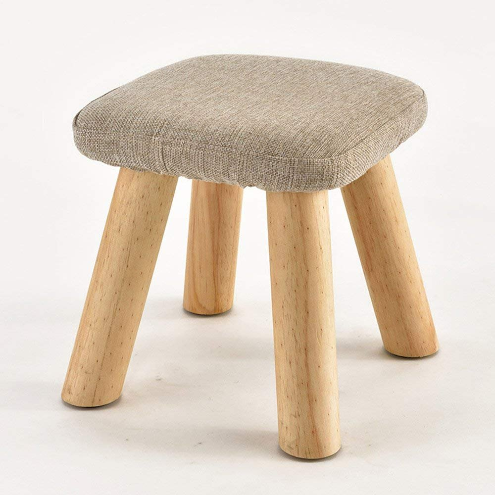 QTQZ Brisk- Household Solid Wood Sofa Stool Creative Fashion Living Room for Shoe Stool Dressing Table Cloth Sofa Stool Bench (6 Colors Available) (Color: 4)