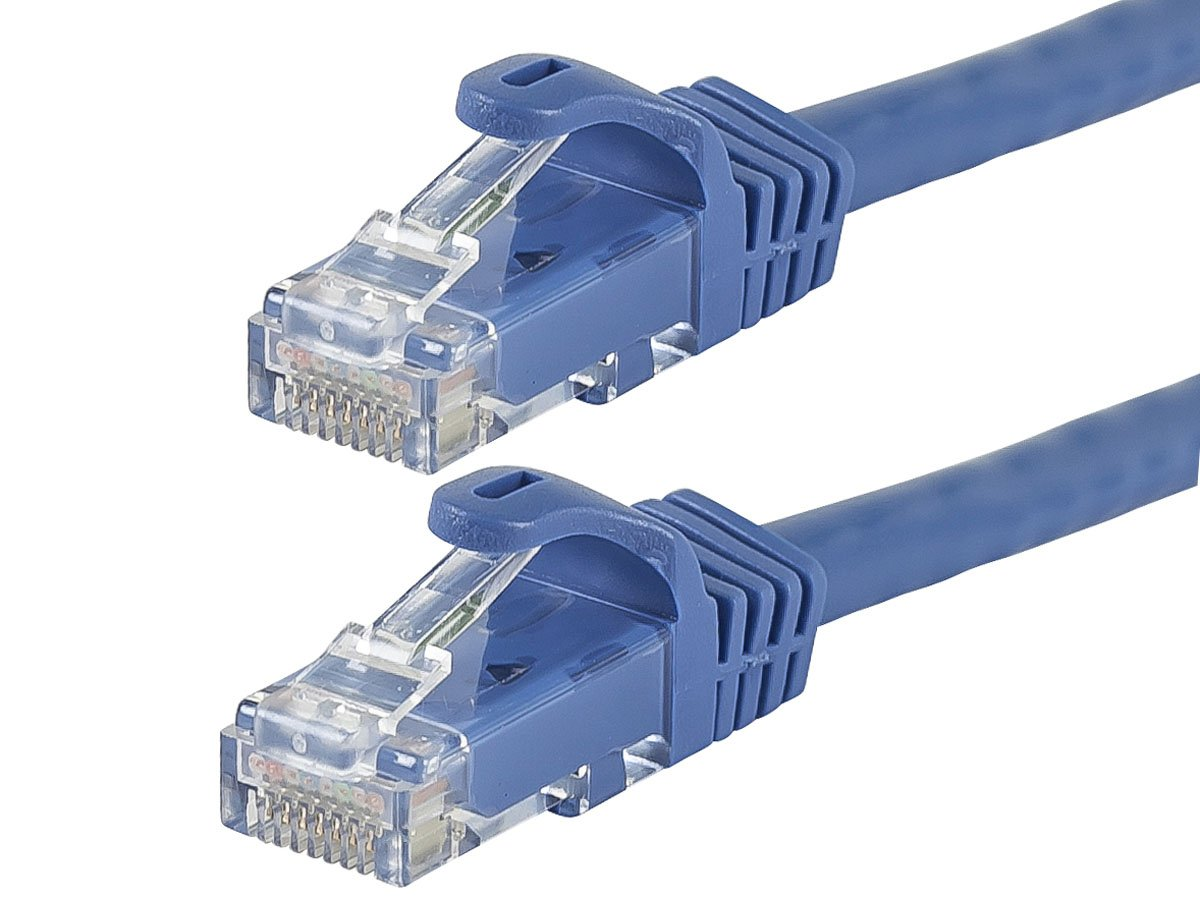 6PC FLEXboot Series Cat6 24AWG UTP Ethernet Network Patch Cable, 25ft Blue